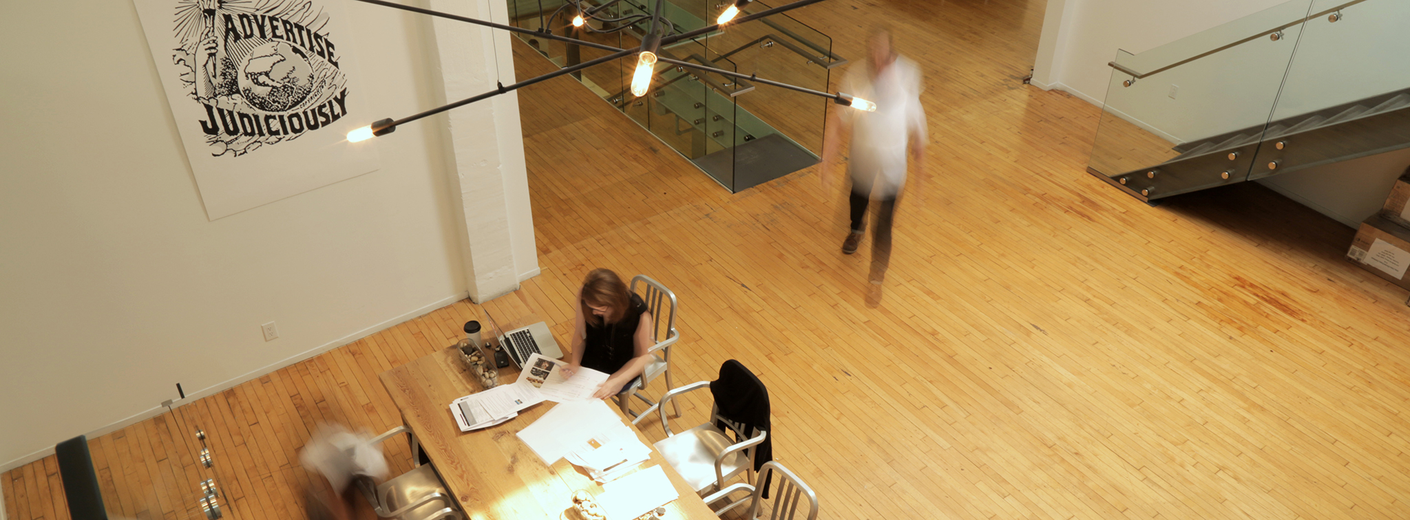 Full service ad agency FCB Hard at work in the open space office design