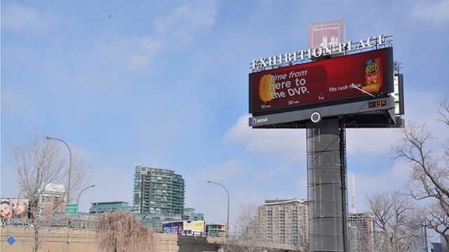 FCB Toronto Full Service Advertising Agency using electronic billboards and traffic information to rebrand Ritz
